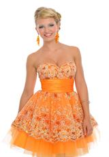 Precious Formals C55079.  Available in Gold, Orange